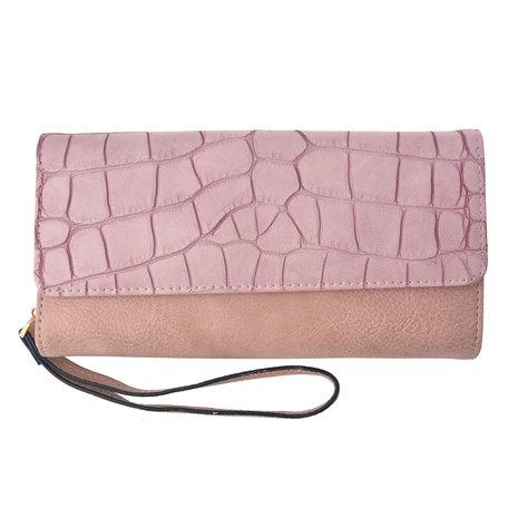 Portemonnee 20*10.5 cm Roze | JZWA0049P | Clayre & Eef