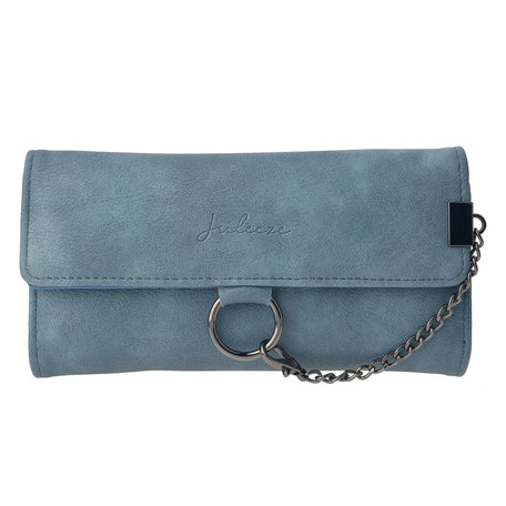 Portemonnee 19*9 cm Blauw | JZWA0050BL | Clayre & Eef