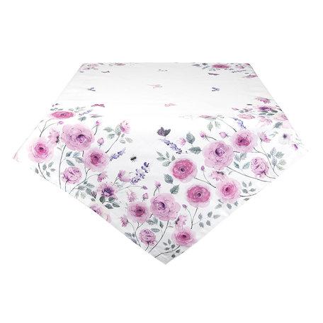 Tafelkleed 100*100 cm Roze | RBU01 | Clayre & Eef