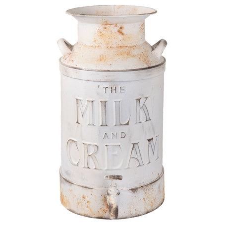 Melkbus met decoratief kraantje 21*27*38 cm / 8L Wit | 6Y2571 | Clayre & Eef