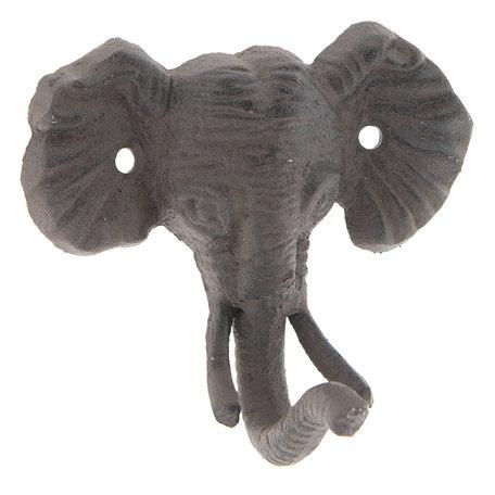 Wandhaak olifant 13*7*11 cm Bruin | 6Y3043 | Clayre & Eef