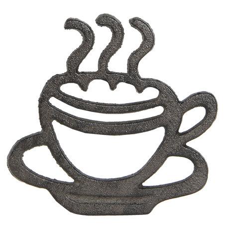 Pannenonderzetter kopje koffie 19*18*2 cm Bruin | 6Y3053 | Clayre & Eef