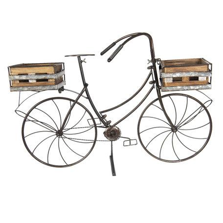 Planthouder fiets 85*30*58 cm Bruin | 5Y0546 | Clayre & Eef
