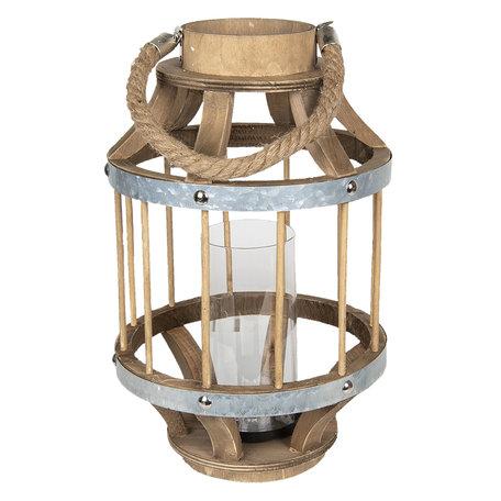 Windlicht ø 22*35 cm Bruin | 6H1733S | Clayre & Eef