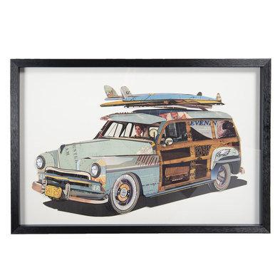 Schilderij 90*4*60 cm Meerkleurig | 50319 | Clayre & Eef