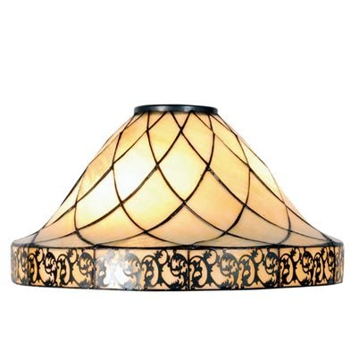 Lampenkap Tiffany ø 45*28 cm Creme   5LL-5281   Clayre & Eef