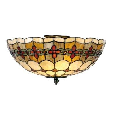 Plafondlamp Tiffany ø 40*24 cm E14/max 1*40W Bruin | 5LL-5416 | Clayre & Eef