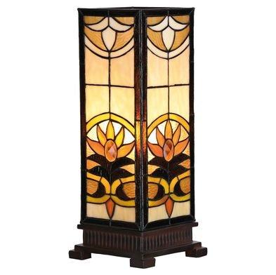 Tafellamp Tiffany 18*18*45 cm E27/max 1*60W Meerkleurig | 5LL-5780 | Clayre & Eef