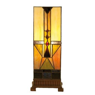 Tafellamp Tiffany 18*18*45 cm E27/max 1*60W Meerkleurig | 5LL-5782 | Clayre & Eef