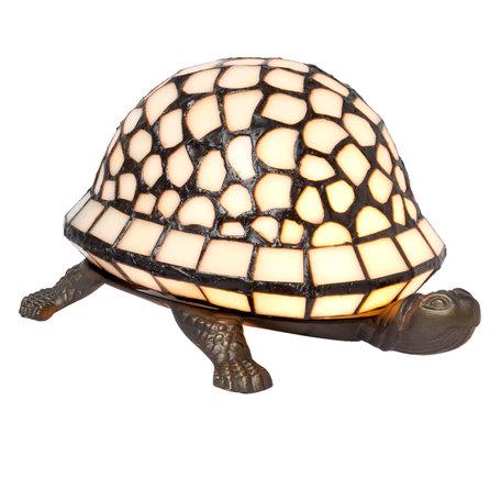 Tafellamp Tiffany 21*14*12 cm E14/max 1*15W Creme | 5LL-5843 | Clayre & Eef