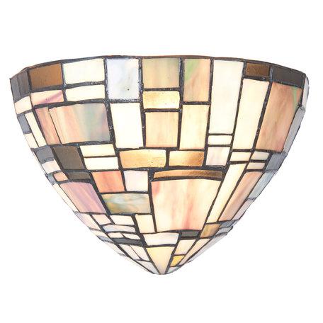 Wandlamp Tiffany 30*16*18 cm E14/max 1*40W Meerkleurig | 5LL-5844 | Clayre & Eef