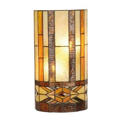 Wandlamp Tiffany 20*11*36 cm E14/max 2*40W Meerkleurig   5LL-9286   Clayre & Eef