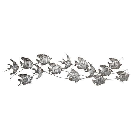 Wanddecoratie vissen 118*1*32 cm Grijs | 5Y0456 | Clayre & Eef