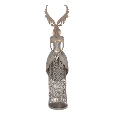 Decoratie hert 20*11*81 cm Grijs | 5Y0585 | Clayre & Eef
