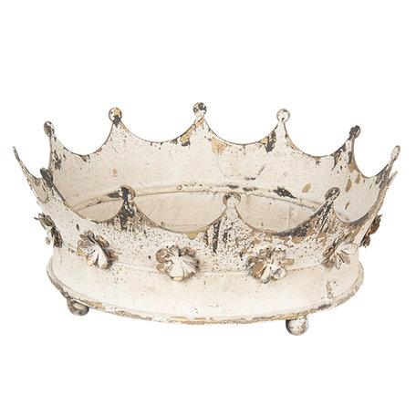 Decoratie kroon ø 26*11 cm Wit | 6Y2953 | Clayre & Eef
