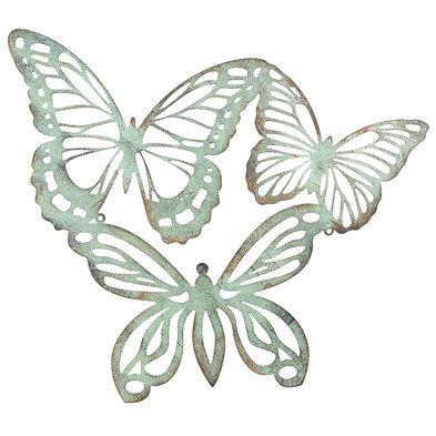 Wanddecoratie vlinders 53*45 cm Groen | 6Y3184 | Clayre & Eef