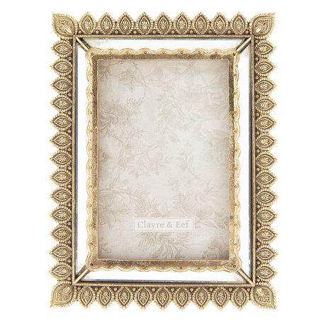 Fotolijst 16*2*21 cm / 10*15 cm Goudkleurig | 2F0582 | Clayre & Eef