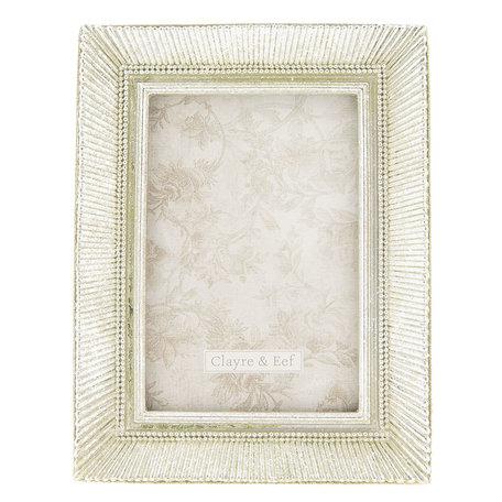 Fotolijst 16*2*21 cm / 10*15 cm Zilverkleurig | 2F0584 | Clayre & Eef