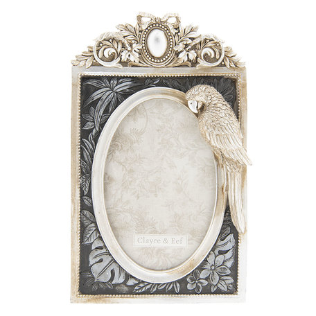 Fotolijst 15*3*24 cm / 10*15 cm Antique silver | 2F0588 | Clayre & Eef