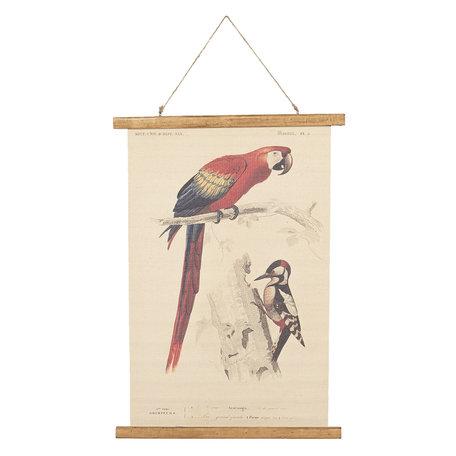 Wandkaart vogels 50*2*70 cm Multi | 6WK0028 | Clayre & Eef