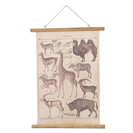 Wandkaart dieren 55*2*70 cm Multi | 6WK0029 | Clayre & Eef