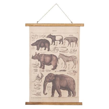Wandkaart dieren 55*2*70 cm Multi | 6WK0030 | Clayre & Eef