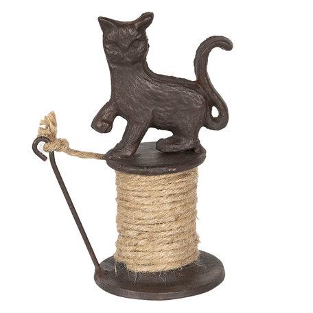 Touwhouder kat 11*8*16 cm Bruin | 6Y3176 | Clayre & Eef