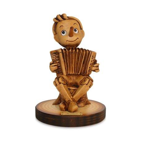 Beeld Pinokkio met accordion - Music Collection 15 x 10 cm   Bartolucci