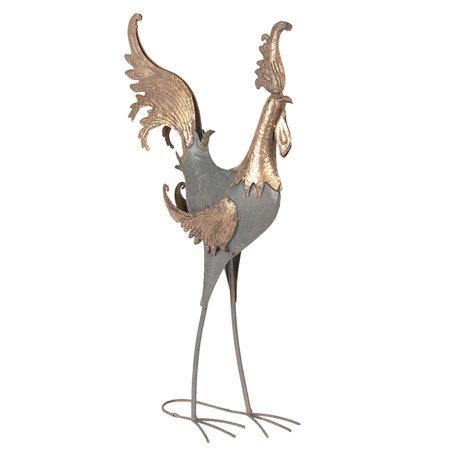 Decoratie haan 42*18*75 cm Grijs | 5Y0579 | Clayre & Eef