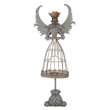 Decoratie engel 26*13*65 cm Grijs | 5Y0581 | Clayre & Eef