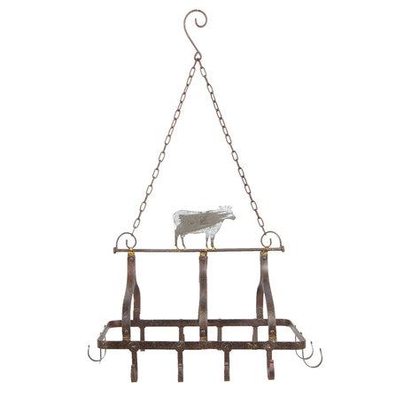 Keukenrek hangend 55*40*38/79 cm Grijs | 5Y0590 | Clayre & Eef