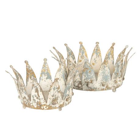 Decoratie kroon ø 35*16/ø 26*14 cm (2) Wit | 6Y2952 | Clayre & Eef