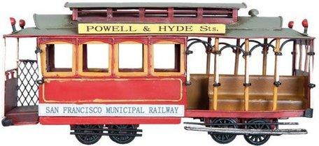 San Francisco Modeltram 32*11*15 cm Multi | 6Y2006 | Clayre & Eef