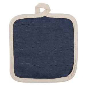 2 STUKS Pannenlap 16*16 cm Blauw | KT045.027 | Clayre & Eef