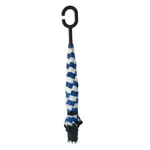 Paraplu ø 60  cm Blauw/wit   JZUM0028   Clayre & Eef