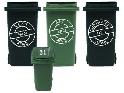 Voordeelset 6x sticker kliko / container  | Rosami