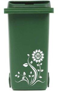 Sticker kliko / container bloem met huisnummer   Rosami