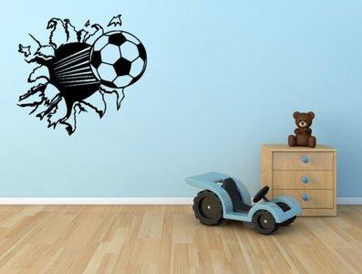 Muursticker Home Sweet Home.3d Muursticker Voetbal Zwart 55 X 50 Cm Rosami