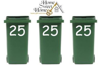 Voordeelset : 3 x sticker huisnummer voor kliko container | Rosami