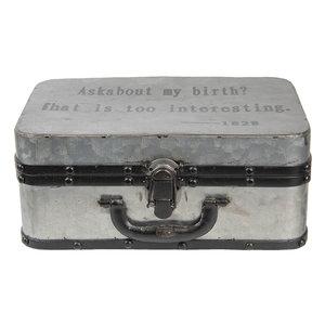 8daaa5273aa Decoratie koffer 29*20*13 cm Grijs   6Y2550   Clayre & Eef - Home ...