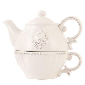 Tea for one 18*12*16 cm Natuur   6CE0371   Clayre & Eef