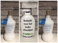 Voordeelset Juf & Meester cadeau | 2 x fles klok groen + 1 x zeeppomp