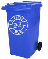 Sticker cirkel voor plastic kliko container met huisnummer | Rosami