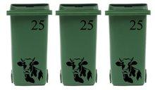 Voordeelset 6 x sticker kliko/ container koe & huisnummer   Rosami
